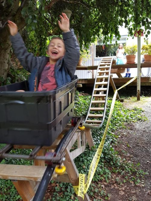 Dad Builds Mini-Rollercoaster For His Kids (16 pics)