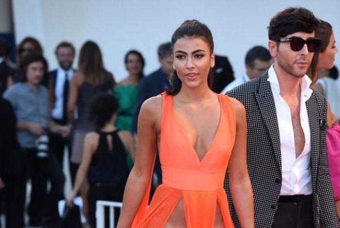 Giulia Salemi And Dayane Mello Forgot To Wear Underwear To The Venice Film Festival  (8 pics)