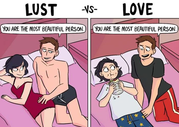 Funny Comic Tells The Truth About Love Vs. Lust (6 pics)