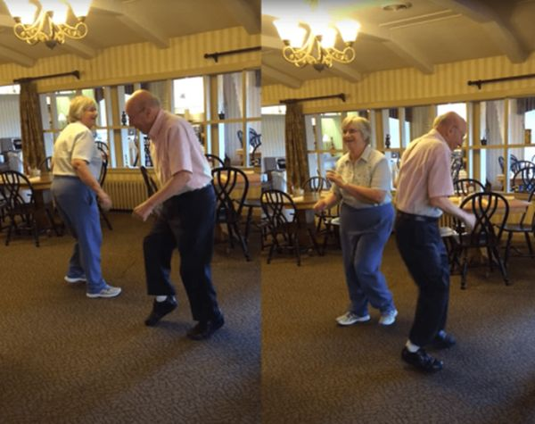 Video Shows Couple In Their 80s Break It Down To 'Uptown Funk' And The Internet Loses It