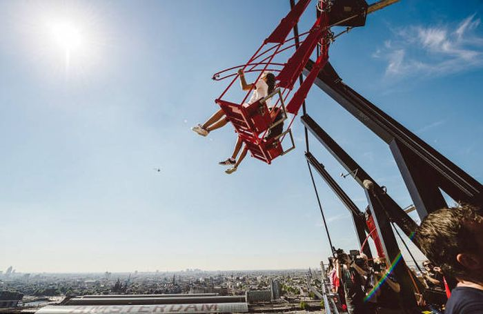 Amsterdam Is Home To One Of The World's Most Terrifying Swings (14 pics)