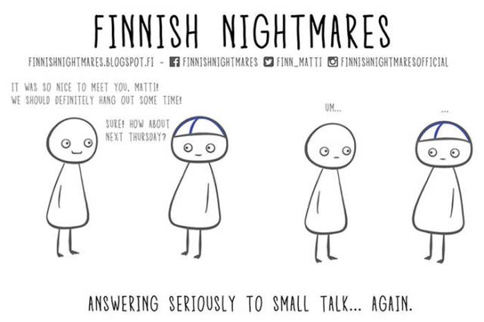 A Collection Of Finnish Nightmare Illustrations That Even Non-Finns Can Understand (51 pics)