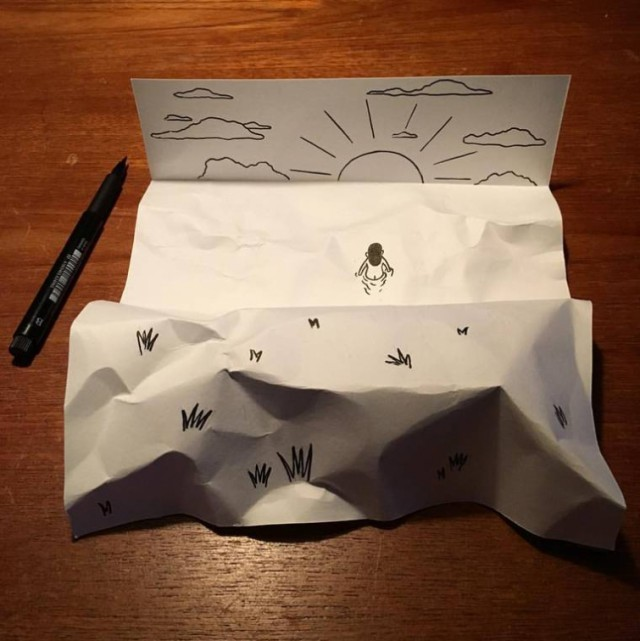 Simple Sheets Of Paper Get Transformed Into Amusing 3D Scenes (24 pics)