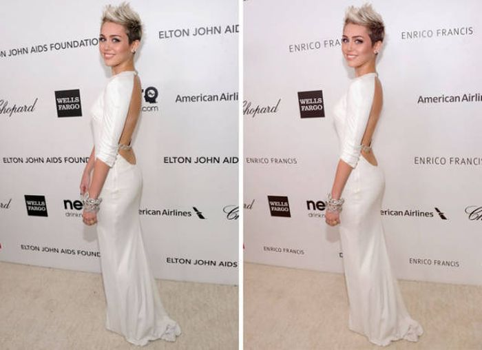 Celebrity Photos Show Striking Differences Before And After Photoshop (52 pics)