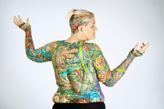 Cool Pensioners Hold Guinness Record For Being Covered In Tattoos (7 pics)