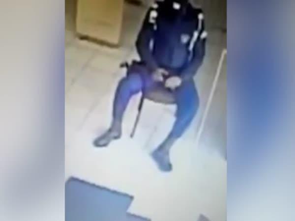 Uniformed Brazilian Officer Shoots Himself In The Leg