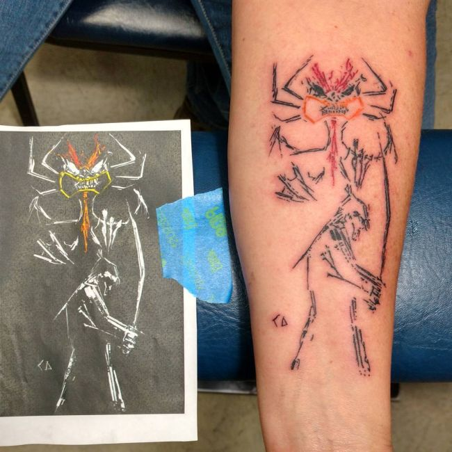 Awesome Tattoos Of Cool Cartoon Characters (20 pics)