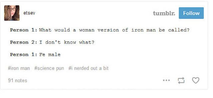 Clever Science Jokes From Tumblr For Your Amusement (22 pics)
