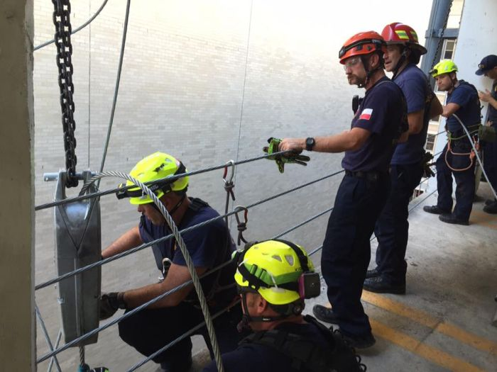Guide Wire Saves Man From Falling Nine Stories (6 pics)