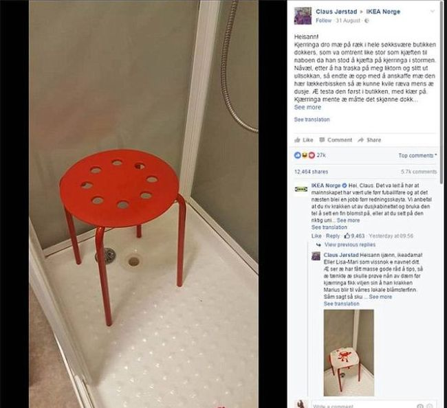 Norwegian Man Has Unhappy Accident While Using IKEA Furniture (4 pics)
