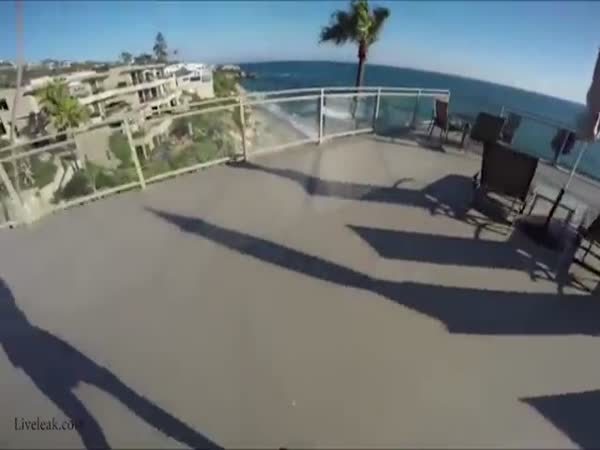 Man Jumps Off Hotel Roof And Barely Makes It Into Pool