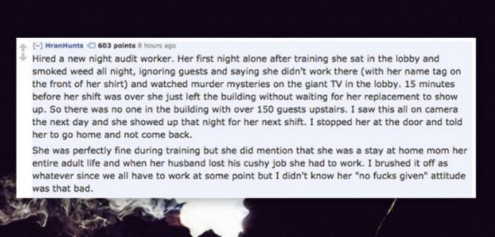 People Share Hilarious Stories About Coworkers Who Got Fired On Day One (21 pics)