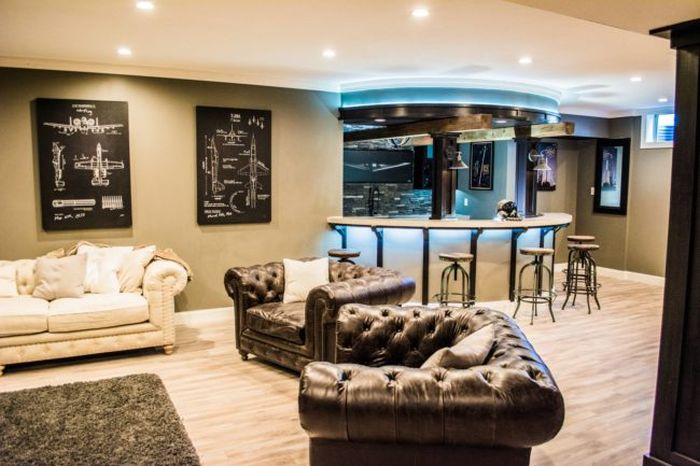Guy Turns His Empty Basement Into An Awesome At Home Bar (31 pics)