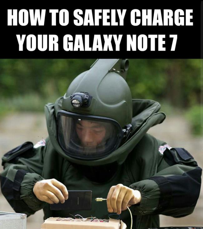 The Funniest Reactions To The Samsung Galaxy Note 7 Exploding (31 pics)