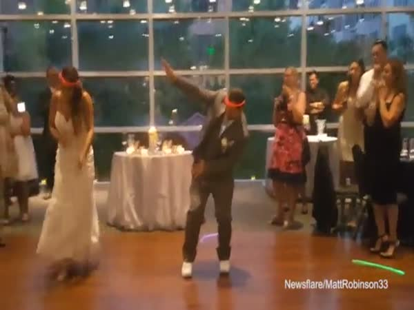 Newlywed Couple Performs Hip Hop Themed First Dance