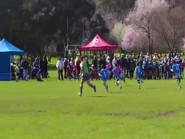 9-Year-Old Meaalofa 'Rayson' Te'o From Australia Dominates This Rugby League