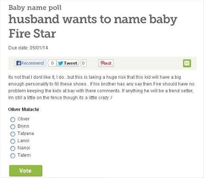 Dumb Baby Names That Were Created By Dumb Parents (21 pics)