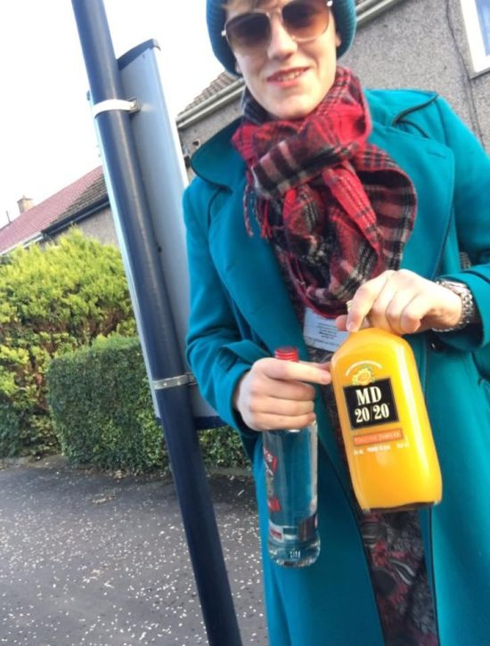 Underage Guy Dresses Up As His Mom So He Can Buy Alcohol (3 pics)