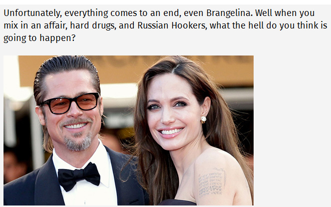 Angelina Jolie Files For Divorce From Her Hollywood Husband Brad Pitt (5 pics)