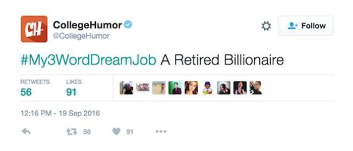 Twitter Users Share Their Dream Jobs Using Only Three Words (25 pics)