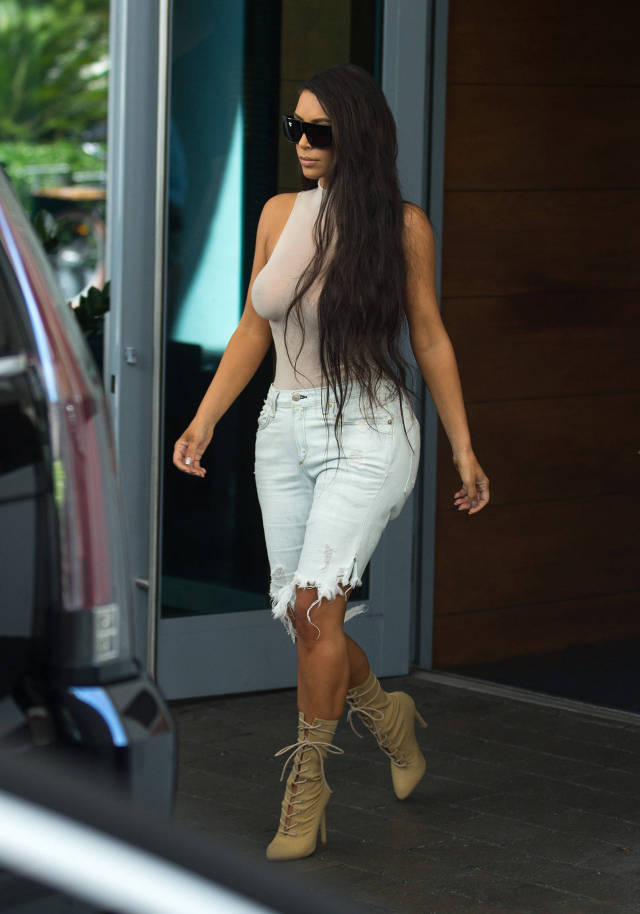 Kim Kardashian's Outfits Don't Leave Much To The Imagination (24 pics)