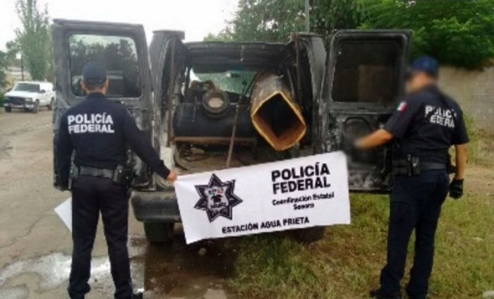Mexican Police Find Cannon That May Have Been Used To Transport Drugs (2 pics)