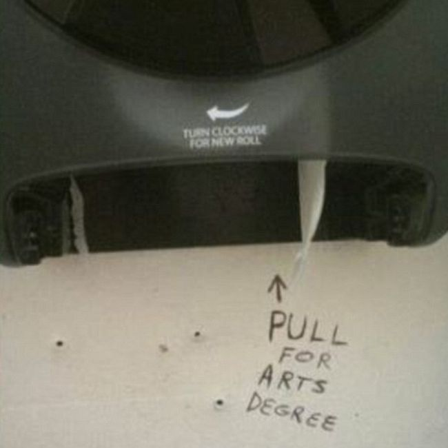 Hilarious Examples Of Bathroom Graffiti In Public Toilets (16 pics)