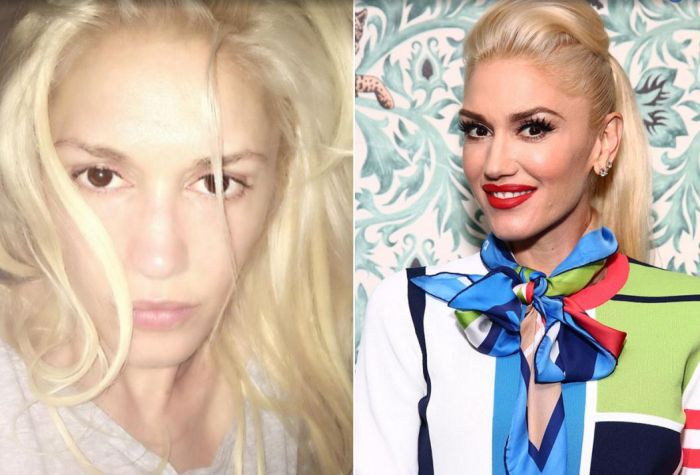 See What Your Favorite Celebrities Look Like Without Makeup (40 pics)
