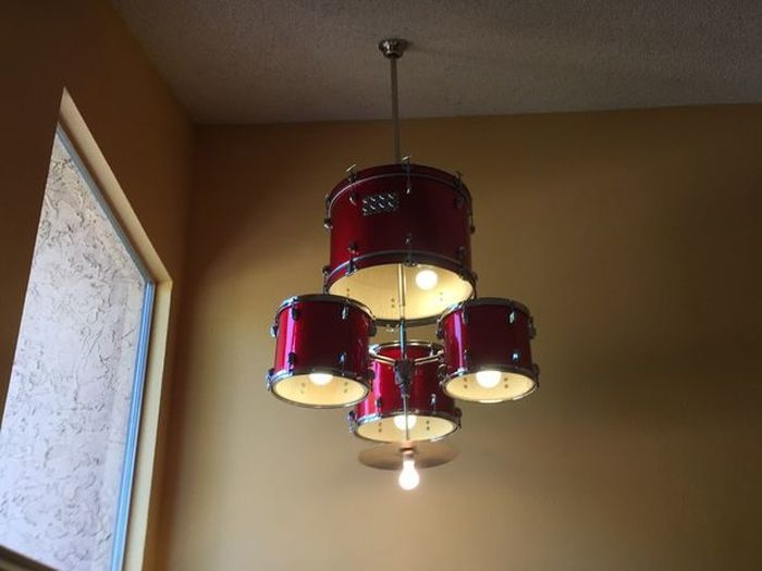 He Took Apart A Drum Set And Turned It Into Something Awesome (9 pics)