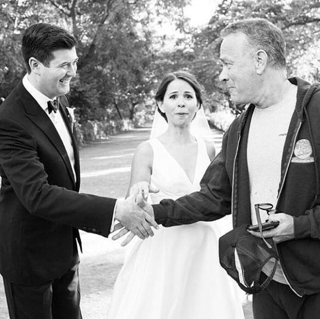 Tom Hanks Surprises Couple By Crashing Their Wedding Photos (5 pics)