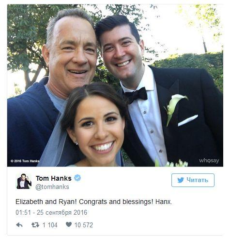 Tom Hanks Surprises Couple By Crashing Their Wedding Photos (5 pics)