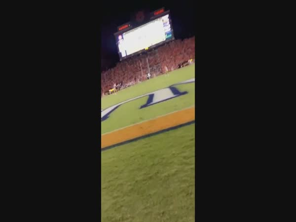 Girls Catches Opening Kickoff With Her Face