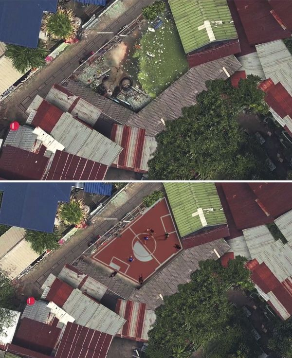 World's First Non-Rectangular Football Field Constructed In Thailand (8 pics)