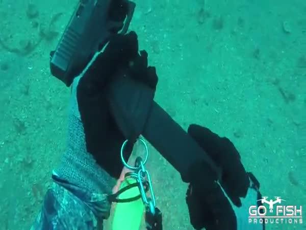 Glock Fishing Underwater