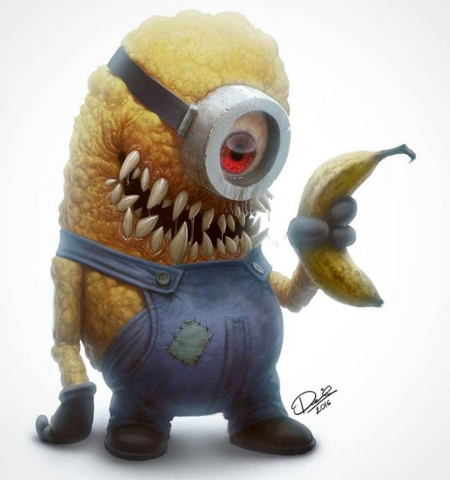 11 Classic Childhood Cartoon Characters Turned Into Monsters (11 pics)