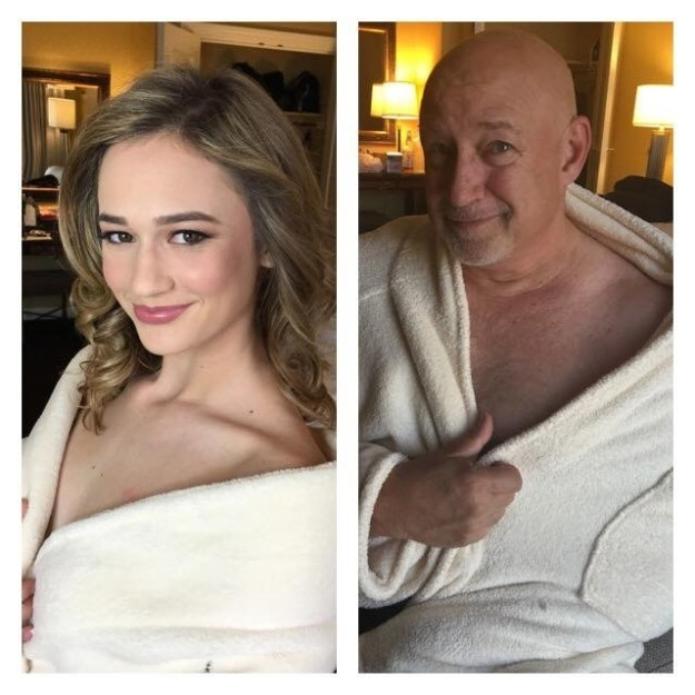 Dad Trolls His Daughter By Copying Her Modeling Photos (10 pics)
