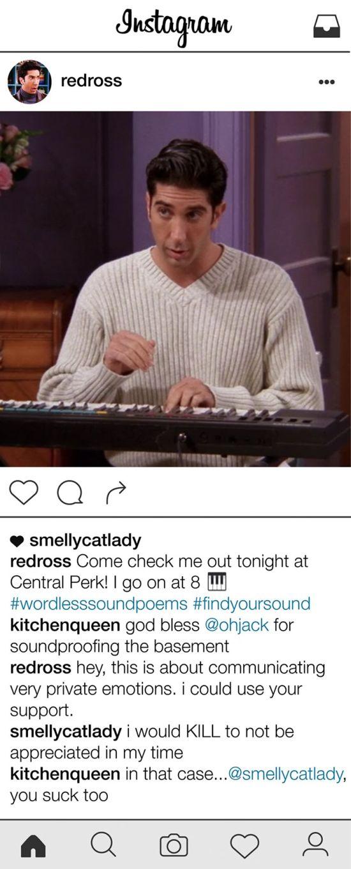 If Ross Geller From Friends Had An Instagram Account (11 pics)