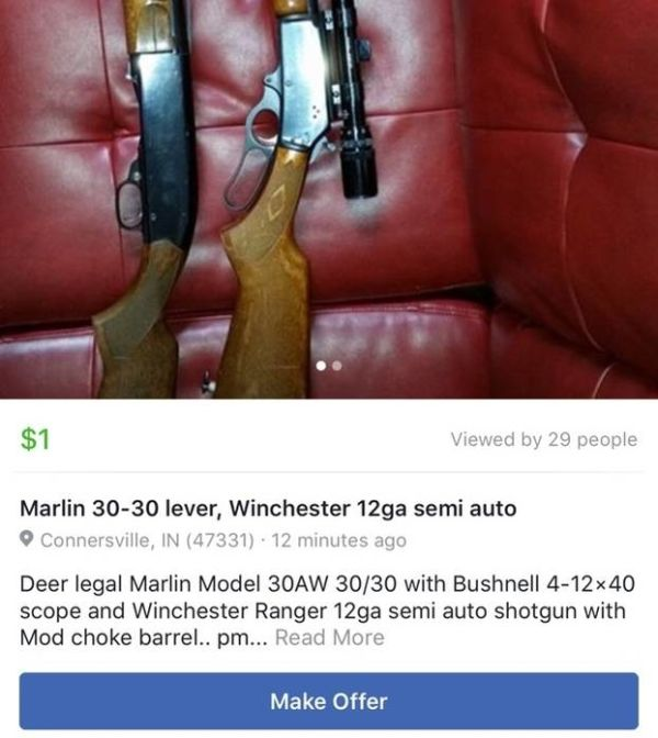 Guns, Drugs And More Illegal Items Being Listed On The Facebook Marketplace (4 pics)
