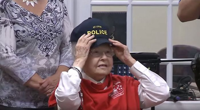 Woman Checks Getting Arrested Off Her Bucket List At 102 Years Old (8 pics)