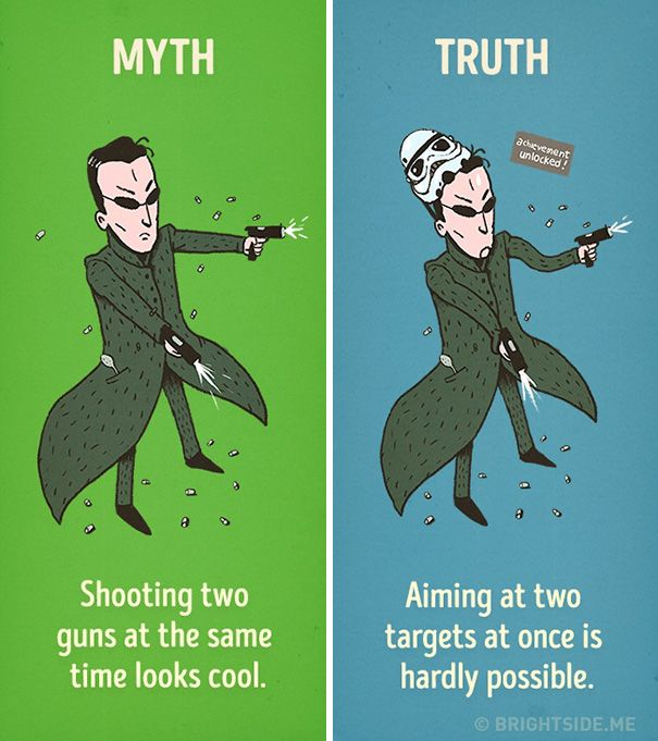 Hollywood's Most Common Movie Myths Debunked (12 pics)