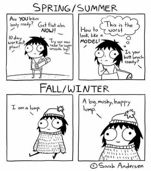 Humorous Comic Strips That Every Girl Can Relate To (14 pics)