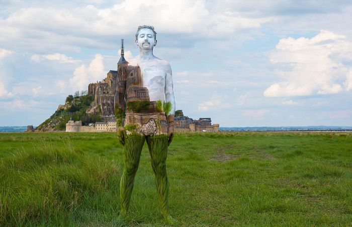 Nude Models Use Bodypaint To Blend In With The Scenery (20 pics)