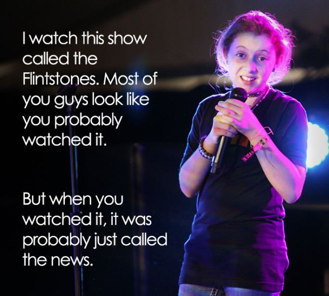 This 11-Year-Old Comedian Has Some Hilariously Inappropriate Jokes (10 pics)