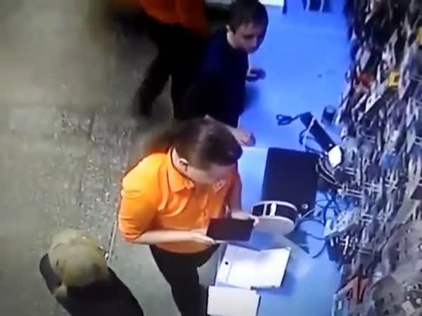Guy Sticks Scissors in a Electric Plug