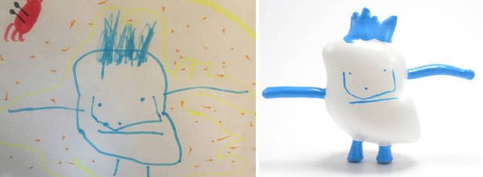 Kids' Drawings Turned Into Figurines Using A 3D Printer (27 pics)