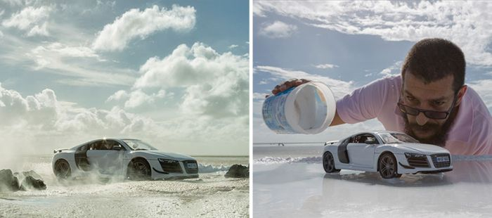 Photographer Shoots Impressive Audi Pics Using A Miniature Toy Car (8 pics)