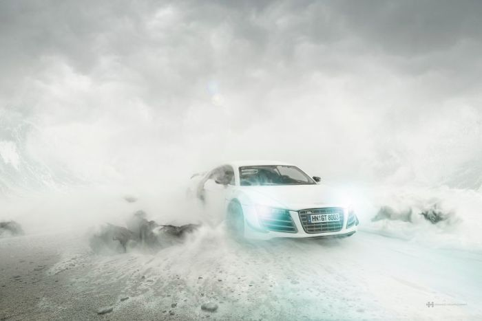 Photographer Shoots Impressive Audi Pics Using A Miniature Toy Car (8 pics)