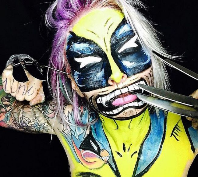 Sarah Mudle's Creepy Makeup Art Will Give You Nightmares (36 pics)