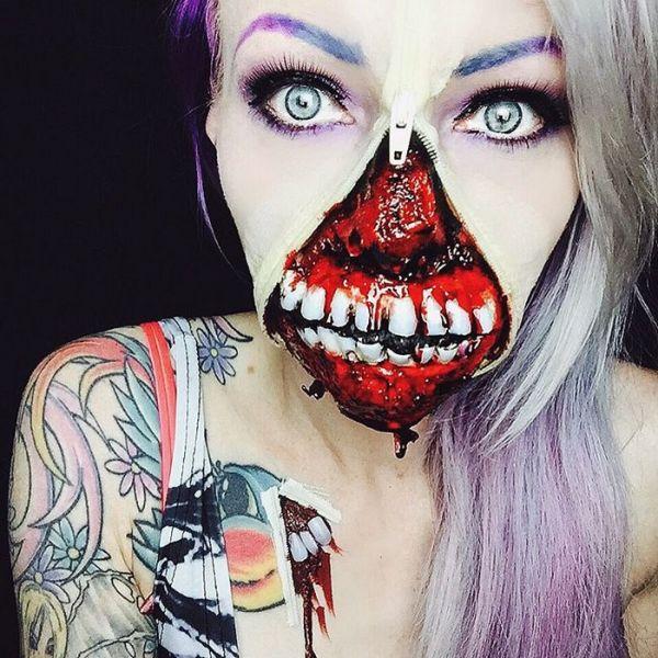 Sarah Mudle's Creepy Makeup Art Will Give You Nightmares (36 pics)