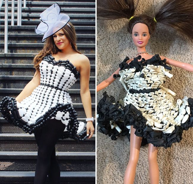 See What This Artist's Balloon Dresses Look Like A Month Later (4 pics)